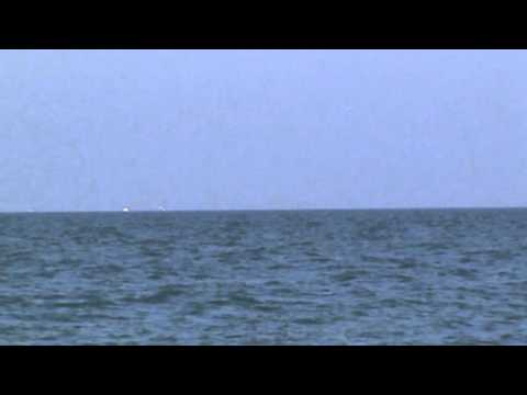 UFO over lake Erie PA by Presque Isle Lighthouse
