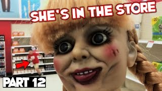 Evil Doll Annabelle mailed to us FREAKS US OUT and haunts us like a SCARY CLOWN - Part 12