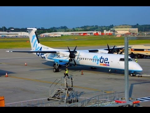 Flybe Q400 Edinburgh-Manchester Flight Experience