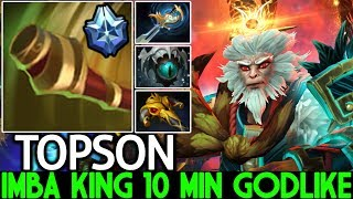 TOPSON [Monkey King] Imba King 10 Min Godlike Crazy Gameplay 7.21 Dota 2