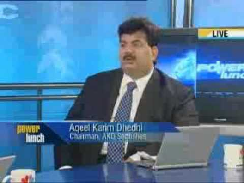Junaid Iqbal with Akeel Karim Dhedhi (Chairman, AKD Securities)  Power Lunch on CNBC Part 2.flv