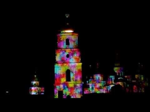 3D световое шоу на Софиевской площади. Киев  4 апреля 2015 (Полная версия)