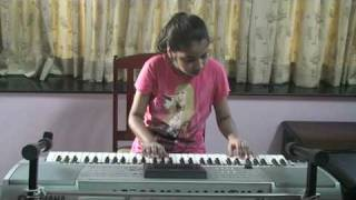 Nandini - Nandini playing on keyboard... Bengali song Hai Rama... from film Amanush...