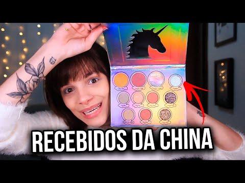 RECEBIDOS DA CHINA | TESTANDO MAKES DE UNICORNIO thumbnail
