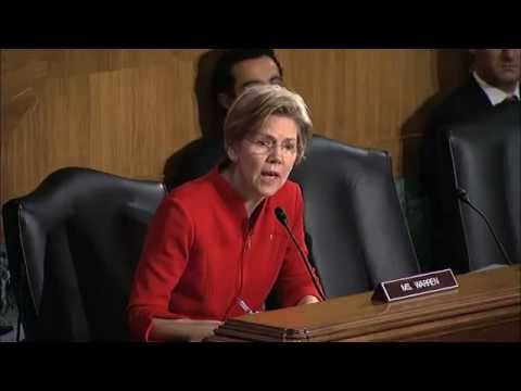 Senator Elizabeth Warren (D-MA) :  Why Haven't The Wall Street Banks Been Prosecuted?
