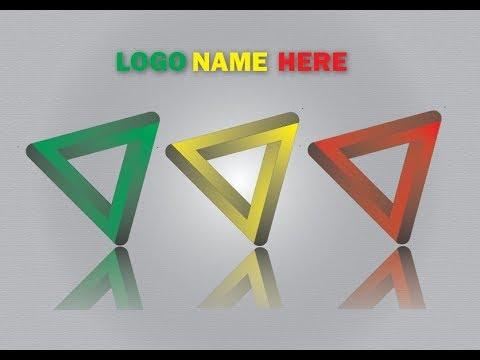 2017 Illustrator CC Tutorial | Logo Design | How to Create Simple 3D Triangular Logo Design