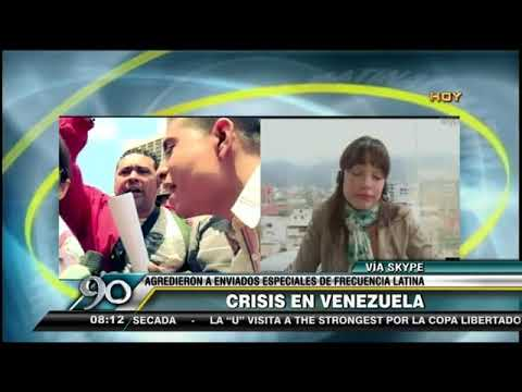 Crisis en Venezuela: Enviados especiales de Frecuencia Latina a fueron agredidos