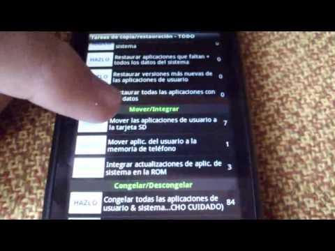 Como mover aplicaciones desde el teléfono a la SD Card