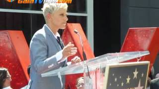 Ellen DeGeneres received her star in Hollywood (More in  Galatview.com)