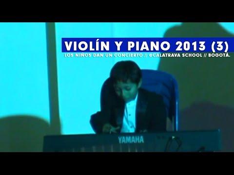 Concierto Violín y teclado, Colegio Calatrava 2013