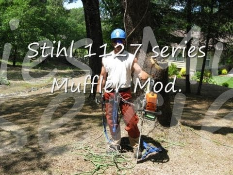 How to Modify Stihl 039 / MS390 Muffler & adjust Carburetor - Shredder II