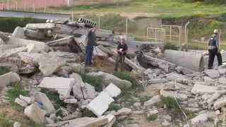 Israel Civilian K9 Unit - Raw footage of training an a rubble site