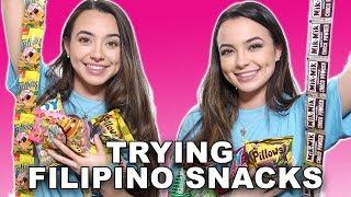 Trying Filipino Snacks - Merrell Twins  from merrelltwins