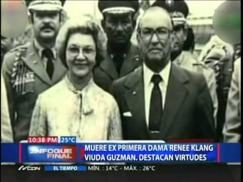 Muere ex Primera Dama Renée Klang viuda Guzmán, destacan virtudes