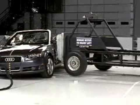 267. 2003-2009 Audi A4 Cabriolet crash test - Consumer Reports Video Hub