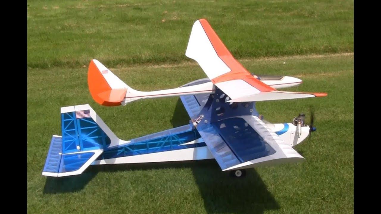 Senior Kadet Rc Glider Piggyback Towing Launches Youtube