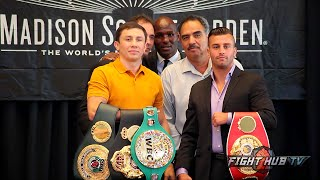 Gennady Golovkin vs. David Lemieux full video- COMPLETE New York press conference & face off video