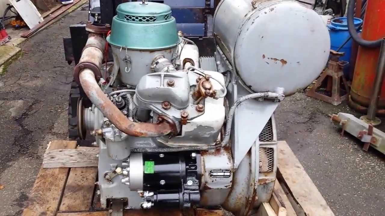V Twin Farymann Diesel Engine Old Mod New Never Run Before
