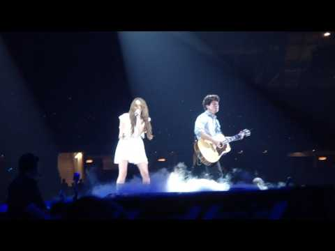 Before The Storm Live - Jonas Brothers and Miley Cyrus