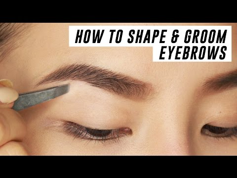 How to Shape & Groom Eyebrows at Home   Tina Yong