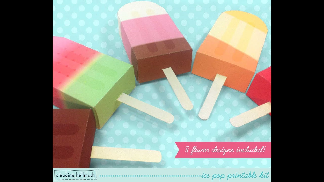 Make A Paper Ice Pop Popsicle Gift Card And Favor Box