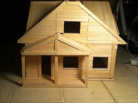 Popsicle Stick House 1 Youtube