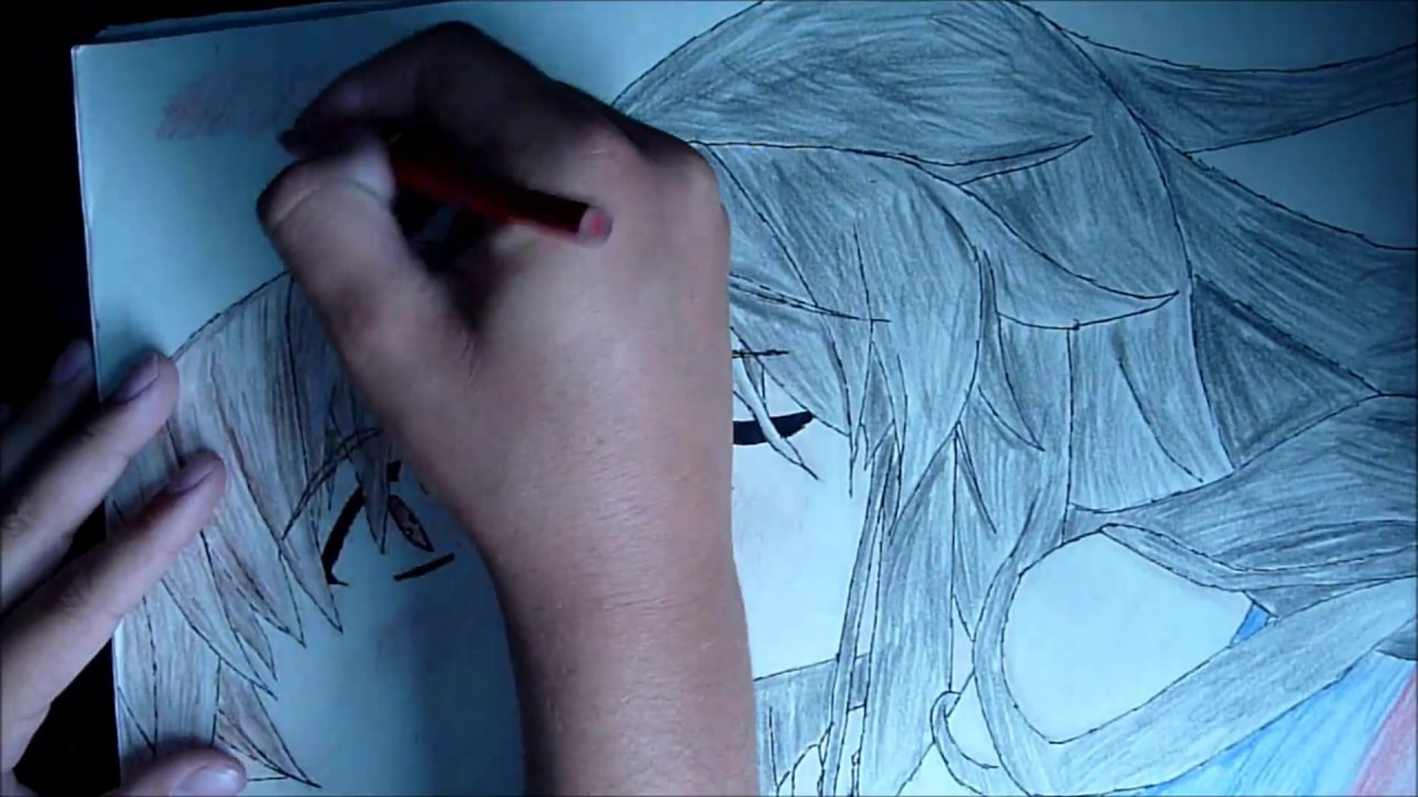 Anime speed drawing - Boy and girl kissing - YouTube