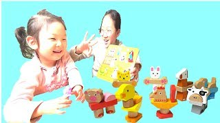 Learn Pets & Zoo Animals with Wooden Puzzles for Kids  동물블럭으로 배우는 영어  Sophia Fun Kids TV