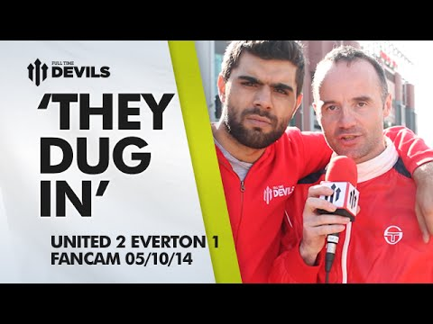 'They Dug In'   Manchester United 2 Everton 1   FANCAM