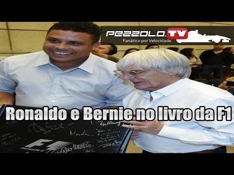 GP Brasil - Bernie Ecclestone, Ronaldo e Viviane Senna no lançamento do livro da Fórmula 1