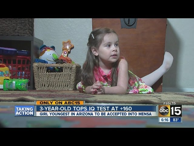 3 year-old genius girl accepted into Mensa