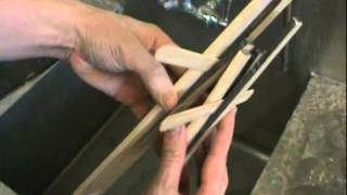 Making Wooden Salad Tongs
