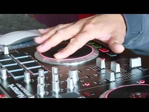 1 handed faderless scratch on the MixTrack Pro 2 (Masta Hanksta)