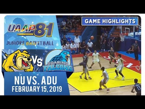 UAAP 81 Jrs Basketball Final Four: NU vs AdU  Game Highlights  February 15 2019