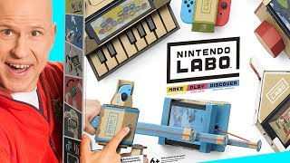 Nintendo Labo Unboxing - Let's Play & Build | DIY Cardboard Games
