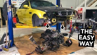 Removing The Drivetrain - M3 S54 Engine Out Refresh