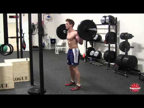 How To: Standing Barbell Calf Raise Image 1