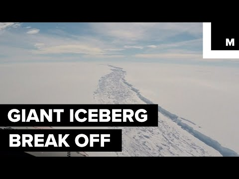 Giant iceberg breaks off