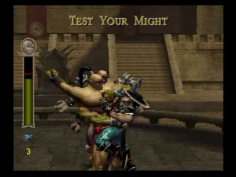 HARD Mortal Kombat Shaolin Monks - Kintaro Lost His Head - AMAZING AXE!