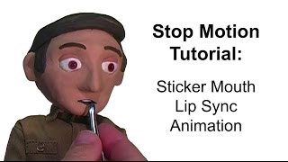 Stop Motion Tutorial:  Sticker Mouth Lip Sync Animation