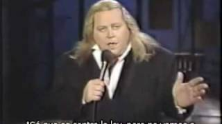 "Sam Kinison en ""Late Night with David Letterman"" (2-10-89)"
