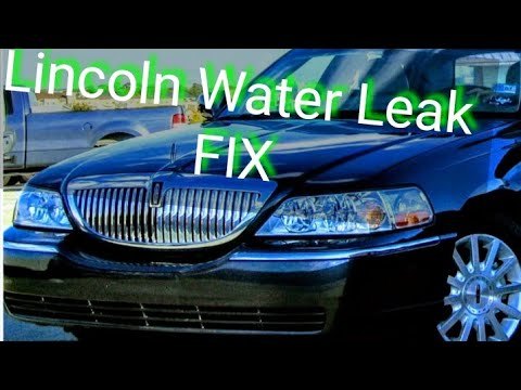 how to fix water leaking in a lincoln town car how to make do everything. Black Bedroom Furniture Sets. Home Design Ideas