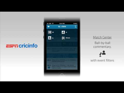 The All New Official ESPNcricinfo App Video Tour