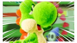 Yoshi's Crafted World demo but some funny stuff happens