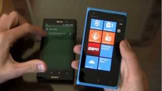 Sony Xperia ion vs. Nokia Lumia 900 Dogfight Part 1