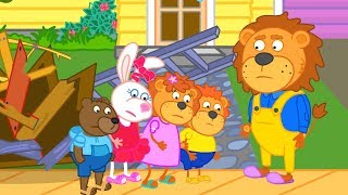 Lion Family An oak is not felled at one stroke Cartoon for Kids