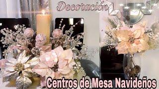 CENTRO DE MESA NAVIDEÑO CON NOCHEBUENAS  / IDEAS PARA DECORAR TU CASA EN NAVIDAD -DIY