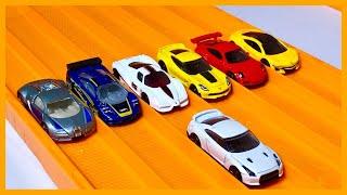 NISSAN GTR vs 6 HYPER CAR EXOTICS - Hot Wheels