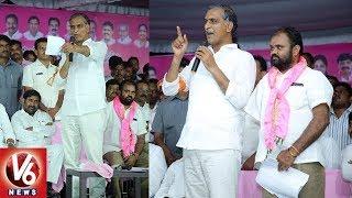 Minister Harish Rao Speech | Inaugurates Development Works In Nalgonda | V6 News