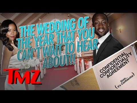Dwayne Wade And Gabrielle Union To Their Wedding Guests - SHUT UP!